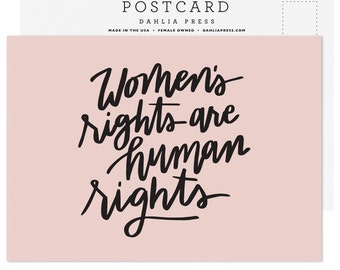 Women's Rights are Human Rights Postcard - Single