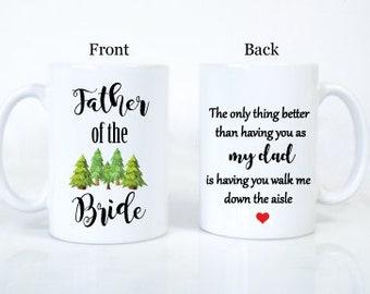 Father of the bride mug // Walk me down the aisle Proposal Mug for dad // Will You walk me down the aisle //  wedding mug 103