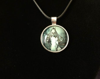 Gothic  Vintage Child inspired pendant