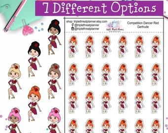 Cute Dance Competition Sticker / Dance Skirt / Dance Mom Sticker / Dance Teacher / Dance Gift / Recital Gift / Jazz Dance / Hand Drawn