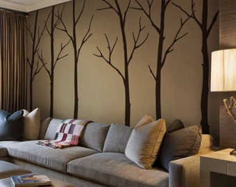 Tree wall decals - Winter Trees Art Wall Sticker