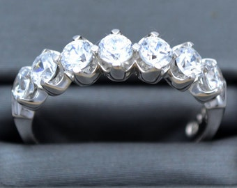 WEDDING DIAMOND  white gold band, wedding and anniversary diamond ring ,diamond and gold ring