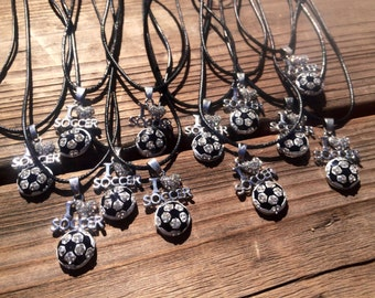 """Soccer Team Gifts, Soccer Team, Coaches Gift, 10+ Soccer I """"Heart"""" Necklaces for Team Gift, Soccer Mom, Soccer Coach, Personalized Team Gift"""
