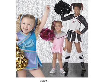 Simplicity Pattern 8240 Girls' Cheer Costumes. Size 7-14. Pattern is new and uncut.