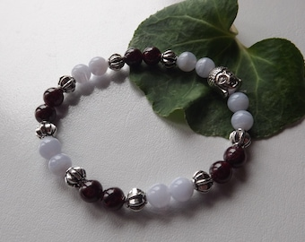 Bracelet Garnet chalcedony