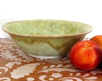 Large Bowl - 11 inch Serving Bowl - Ceramic Bowl - Fruit Bowl - Hand Thrown Stoneware Pottery - Ready to Ship