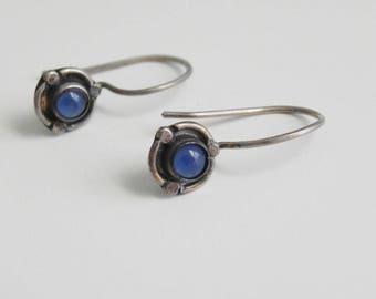 a sterling idea ~ small blue earrings