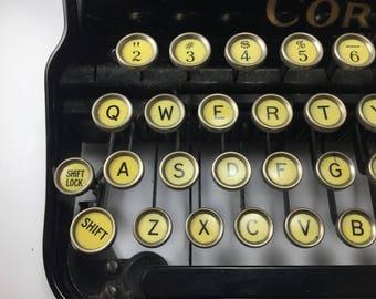 "1930's Vintage Rare Corona ""Four"" Typewriter with Original Case"