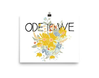 Ode to We Beautiful Poster