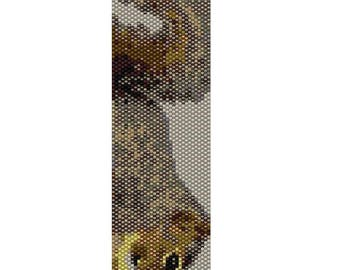 Squirrel Odd Count Single Drop Peyote Cuff/Bracelet Pattern