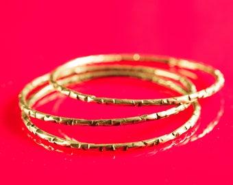 Gold bangle set, Stacking bangle, Minimalist bangle, Brass bangle bracelet, Oxidized silver bangle, Textured bangle, Stacking bracelet, Gift