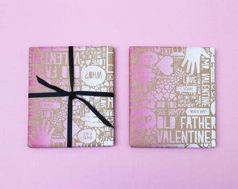 Jack Valentine Screen Printed Valentine's Wrapping Paper