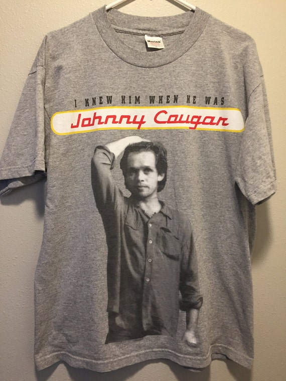 vintage John mellencamp fullprint 90's mens t shirt St6qS