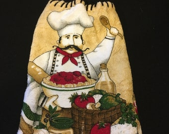 Happy Chef Double Sided Kitchen Hand Towel Black 2
