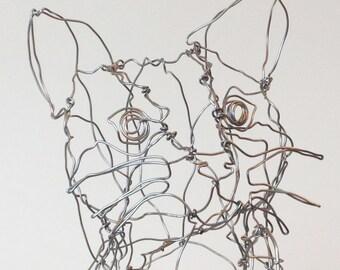 Little Kitten-wire drawing sculpture art