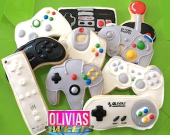 NINTENDO SUGAR COOKIES | Video Game Controller Decorated Sugar Cookies | N64 Gamer Geek Nerd Gifts