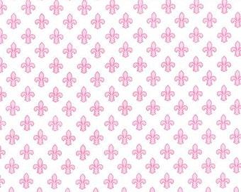 Petite Fleur De Lis (Rose) - Michael Miller Fabrics - 1 Yard