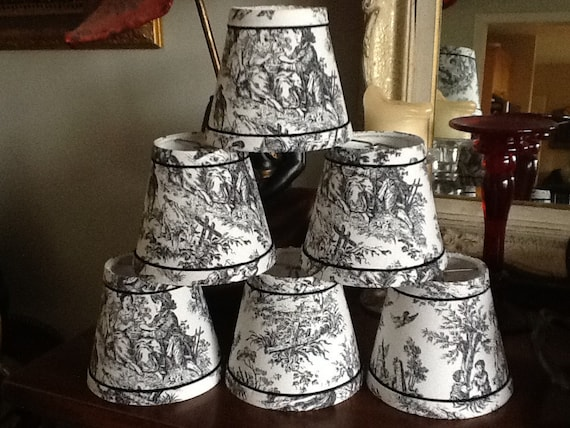 Salefrench Toile Chandelier Lampshades Black And White