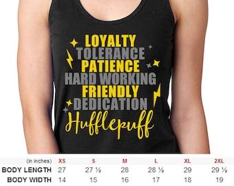 Men and Women Harry Potter Hufflepuff House Shirt