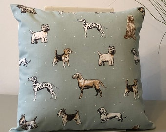 "Handmade 16"" Cushion in Best in Show Dog Design"