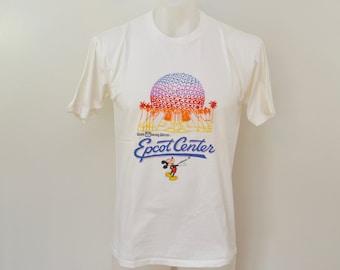 Vintage 1980's EPCOT CENTER Walt Disney World t-shirt xl usa