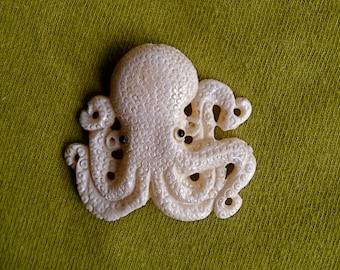 Carved Bone Octopus Bead