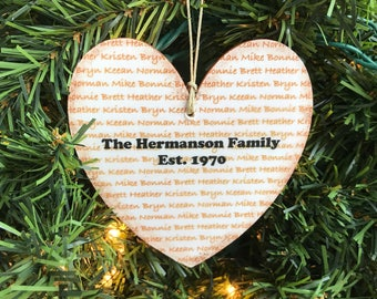 Personalized Family Ornament, Personalized Family Reunion Ornament, Family Name Ornament, Last Name Ornament, Family Reunion Gift