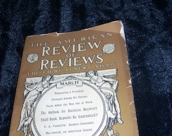 Vintage 1908 The American Review of Reviews,edited by Albert Shaw