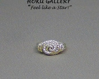 Wirewrapped, Spiral, Rose Ring - Hand Crafted Artisan Jewelry