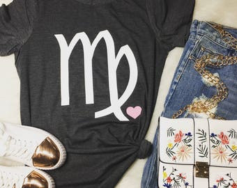Virgo / August - September/ Zodiac/ Birthday Girl / Statement Tee / Graphic Tee / Statement Tshirt / Graphic Tshirt