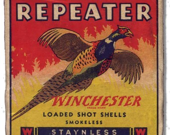Winchester REPEATER Staynless series ~ vintage mini shot shell box reproduction