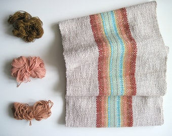 Handwoven 'Canyon' Scarf featuring Cotton and Multi-Öko fibers: Reserved for Cyril