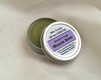 Muscle Balm for Yoga (Organic) -- With Arnica and Clove // Muscle Rub // Muscle Salve // Stretch Balm