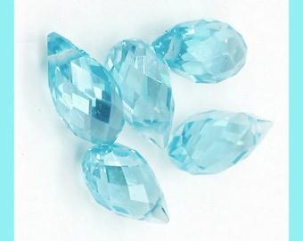 Swarovski, Blue briolette, Lake Blue Briolette, Aqua Blue Briolette, Aqua Blue Beads, big briolette, 18x8 mm, crystal beads, Black crystal,
