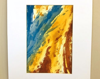 Earth Colors Abstract 1 Watercolor Painting