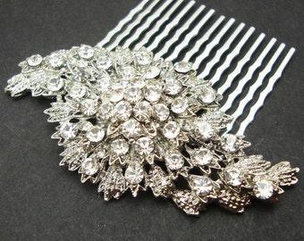 Vintage Inspired Bridal Hair Comb, Rhinestone Wedding Hair Comb, Wedding Hair Accessories, Art Deco Bridal Hair Piece, BEVERLY