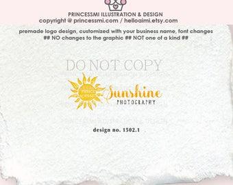 1502-1  sunshine logo, sun logo, logo branding,  boutique logo, business branding, business logo design, watermark, photography branding