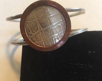 Sterling and copper bracelet