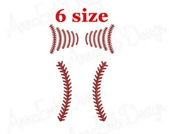 Baseball Laces embroidery design. Softball Laces embroidery design. Baseball Monogram frame Embroidery Design. Machine embroidery design.