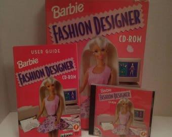 1996 Barbie Fashion Designer CD-ROM