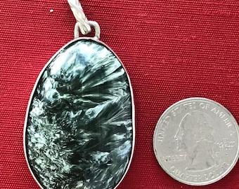 Seraphinite pendant in Sterling