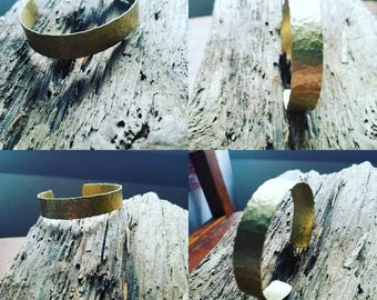Hammered brass bracelet
