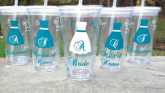 Tumbler for bride and bridesmaids wedding party acrylic solutioingenieria Images