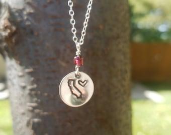 Love California Necklace