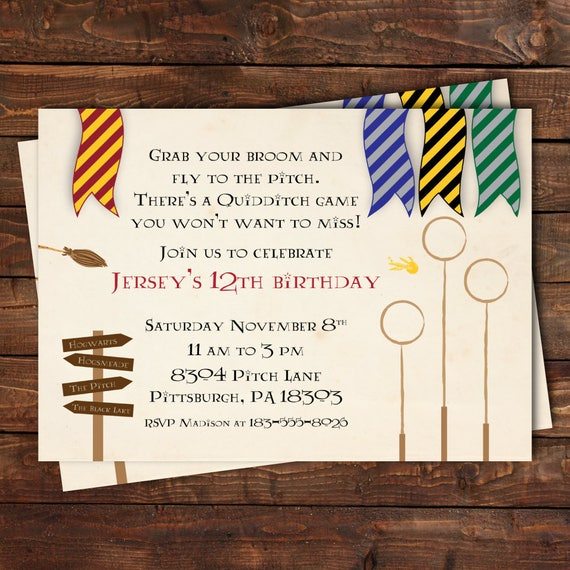Harry Potter Birthday Invites Gallery Invitation Templates Free