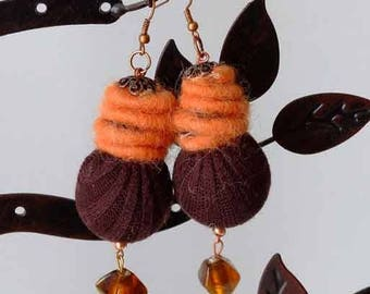 Chunky textile earrings