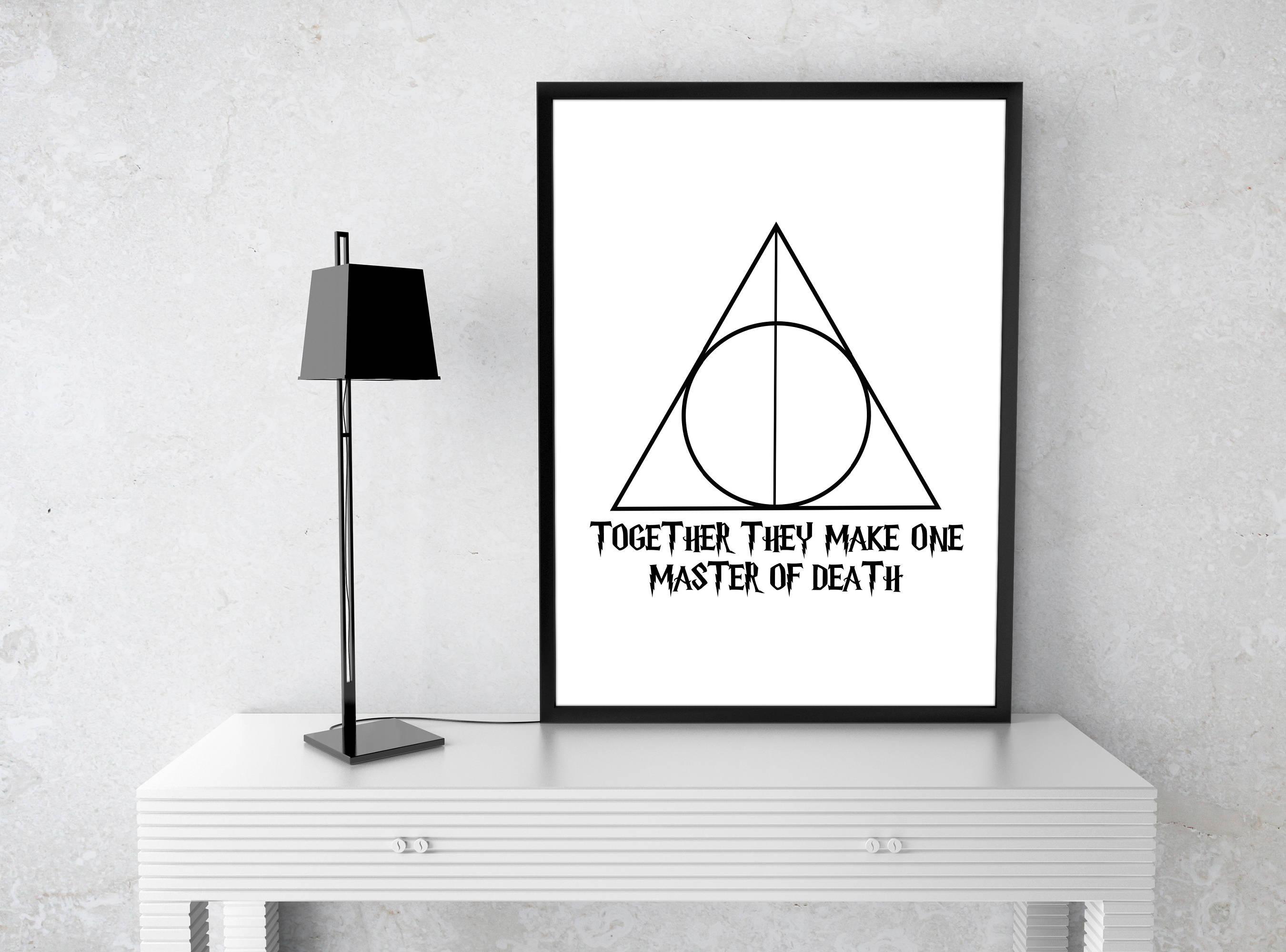Harry potter deathly hallows printable art digital print zoom buycottarizona