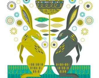 Hares card