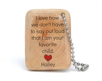 Personalized keychain for dad - Personalized dad gift - Dad keychain - Custom Wood Keychain