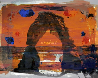ARCHES by Sven Pfrommer - 100x80cm Artwork is ready to hang.